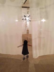江戸時代に夏の夜の娯楽だった「走馬灯」の技法を用い、動く影で幻想的な空間を作り出す