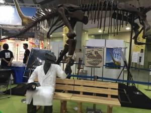 福井県のブースでは、恐竜と一緒に撮影ができる!?