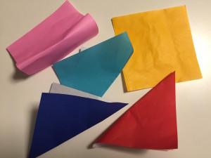 そのときいただいた5枚の折り紙