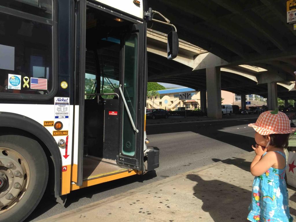 路線バスも結構通ってる。