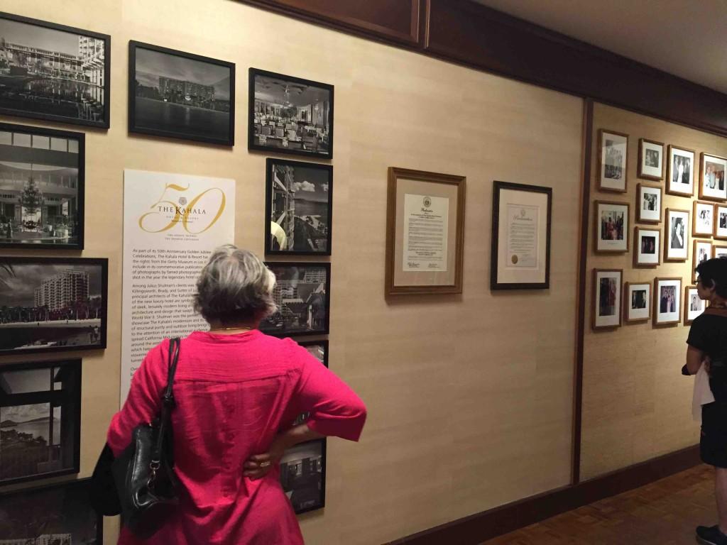2014年に50周年を迎え、ホテルに歴史が展示されてた